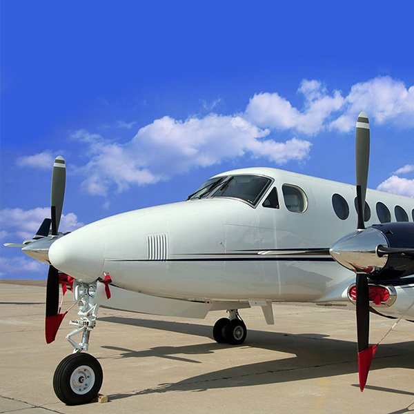 Turboprop vliegtuigverhuur